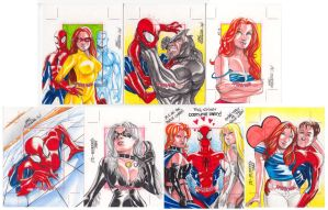 Spider-Man AP sketchcards by MarcFerreira