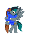 A Hug From BlueBook by SteampunkSalutation