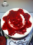 Crimson Omen Detail- Gears of War Cake by Corpse-Queen