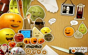 Annoying Orange Knife Theme Song South Park in Orangela...