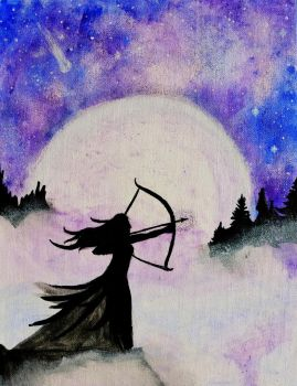 Huntress of the Moon by levanacats