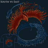 Woot Shirt - South vs East by fablefire