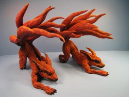 Kyuubi original and resin casting fox anime sculpt by RavendarkCreations