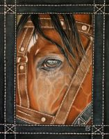 Hand-stitched Horse by ElizScism