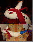 Milotic plush by Lisa-Wolf