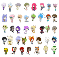 Collab: THANK YOU for the support-Donation chibis by Cute-Saki