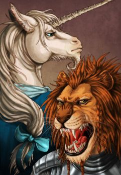 The Lion and the Unicorn by LadyFiszi