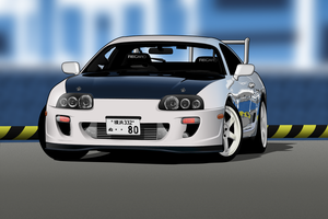 Toyota Supra by me-myself