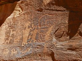 Fremont Culture Petroglyphs by Synaptica