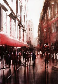 Paris Painting by nicolasjolly