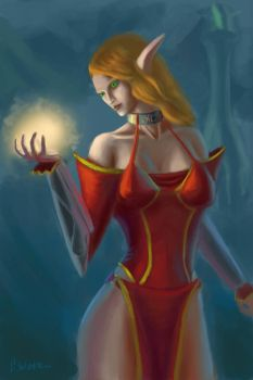 Blood Elf Mage by CannibalWorm