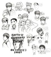 SNK Ink Sketches 2 by RainbowMarimo