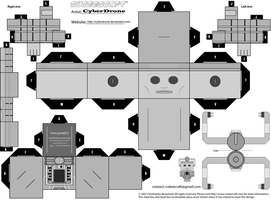 Cubee - Cyberman 'MKI' BW by CyberDrone