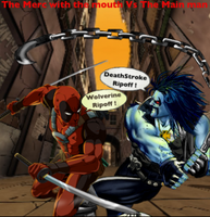 Deadpool vs Lobo, Marvel vs DC, Merc vs Merc by Tony-Antwonio