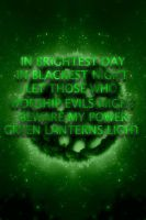 Green Lantern Oath Space Themed background by KalEl7