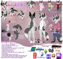 Fursona Reference: Elaine by Force-O-Nature