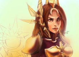 Leona League of Legends by Lnterrupted