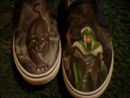 Drizzt and Guenhwyvar Shoes by Lemguin