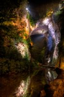 Natural Bridge Night by dementeddiva23