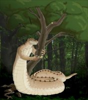 Northern Brown Snake Naga by Paleos