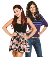 Ariana Grande and Victoria Justice PNG by xCupcakeGlitter