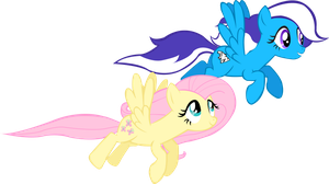 Fluttershy and Roary by TrueCelticHeart