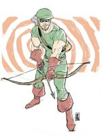 Golden Age Green Arrow digisketch by hyperjack08