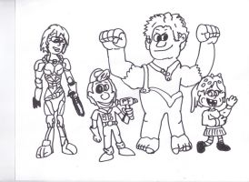 Wreck It Ralph Gane black and white by SonicClone