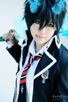 Blue fire - Rin Okumura by Yushu-Eien