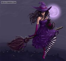 Violet witch by LiaSelina
