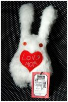 BunnyBoo Plush White Candy for Mother's Day 4 by MonstriBoo