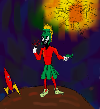 Realistic Marvin The Martian by queenelizathedog