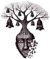 Tree of Your Soul pen ink surreal drawing by Vitogoni