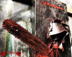 Chainsaw Wall Picture 3D Soldier by Madhouse-Customs