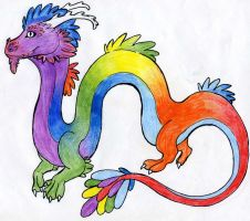 Rainbow Dragon by LyricAndMemories