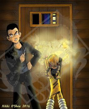 9th Doctor Meets the Energizer - color by DragonPress