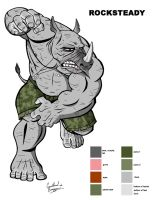 Rocksteady Color Sheet by Ninja-Turtles