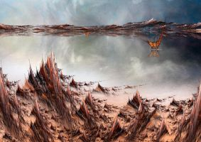 Martian Lake by PaulineMoss