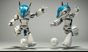 MECHA SOCCER PLAYER by SunnyPineStudio