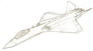 YF-23 with dorsal intakes by Son-of-Italy