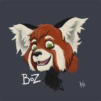 Boz the red panda by Adele-Waldrom