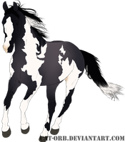 SOLD Adoptables 2: Blue Grullo Tobiano by Cat-Orb