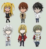 Death Note Chibi Set by nyuhatter