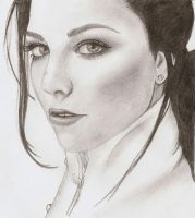Amy Lee Pencil Portrait by Artistic-mama84