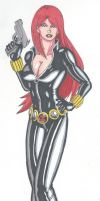 Black Widow- Statuesque by RobertMacQuarrie1