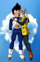 03 COMMISSION Vegeta and Bulma by GhoulSoul