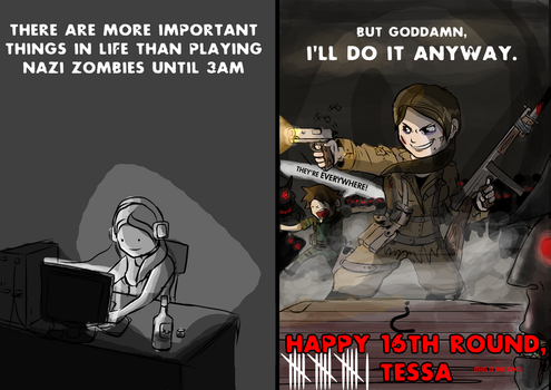 Tess's Nazi Zombies Card by GrandAdmiralVyte