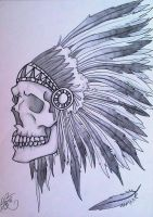 Feathered Skull by demenian