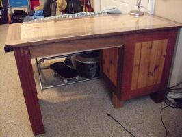Mahogany and Cedar Desk by Sawdust013