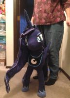 MLP Luna Plushie Pic Sense of Scale 01 by AmethystArmor